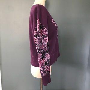 Life Is Good Tops - Life is Good Stay True Floral Sleeve Sweatshirt xs